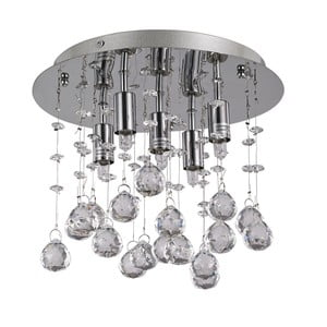 Lampa sufitowa Evergreen LightsDrops Chrome, 26 cm