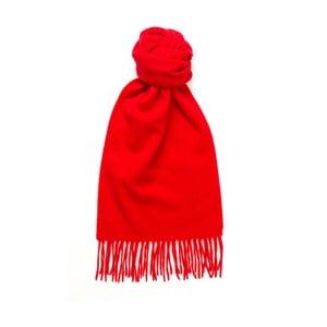 Czerwony szalik kaszmirowy Hogarth, 180x25cm