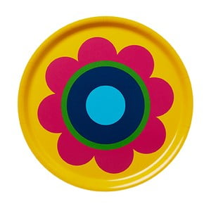 Taca drewniana Tray Yellow Flower