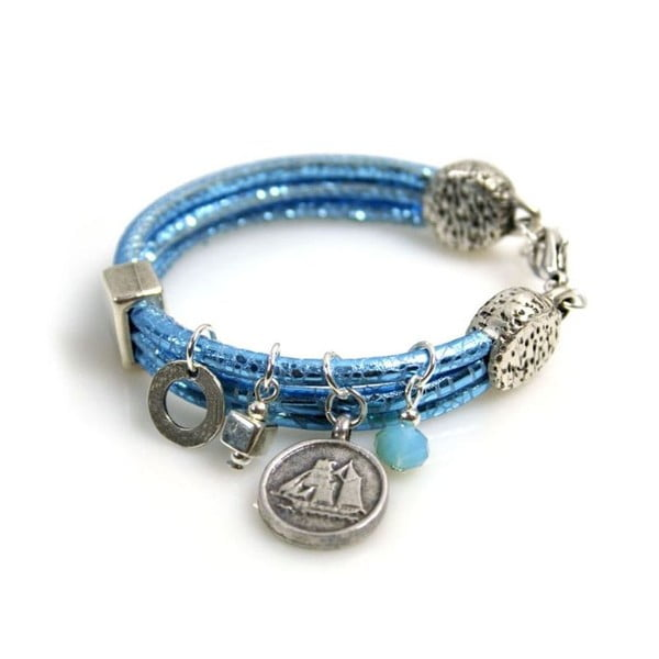 Bransoletka Coin, niebieska