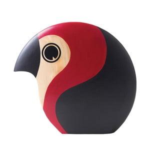 Dekoracja w kształcie ptaszka z czerwonymi elementami Architectmade Discus
