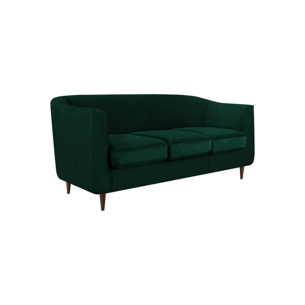 Ciemnozielona sofa 2-osobowa Kooko Home Glam
