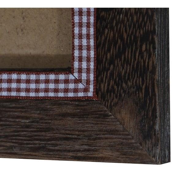 Brązowa ramka na zdjęcia Mendler Shabby, 19x24 cm