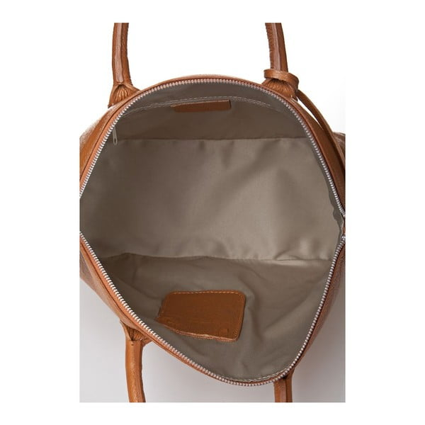 Skórzana torebka Costa Cognac