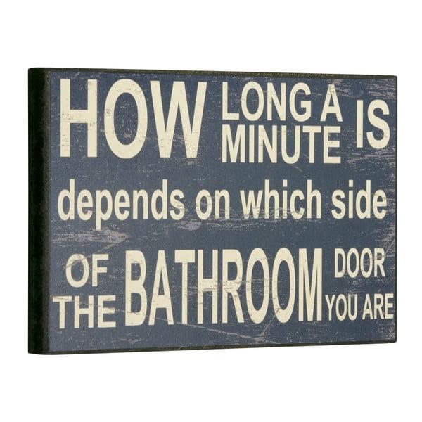 Tablica How long a minute is, 16x25 cm