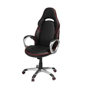 Czerwono-czarny fotel biurowy Furnhouse Speedy