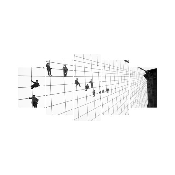 Wieloczęściowy obraz Black&White no. 36, 100x50 cm