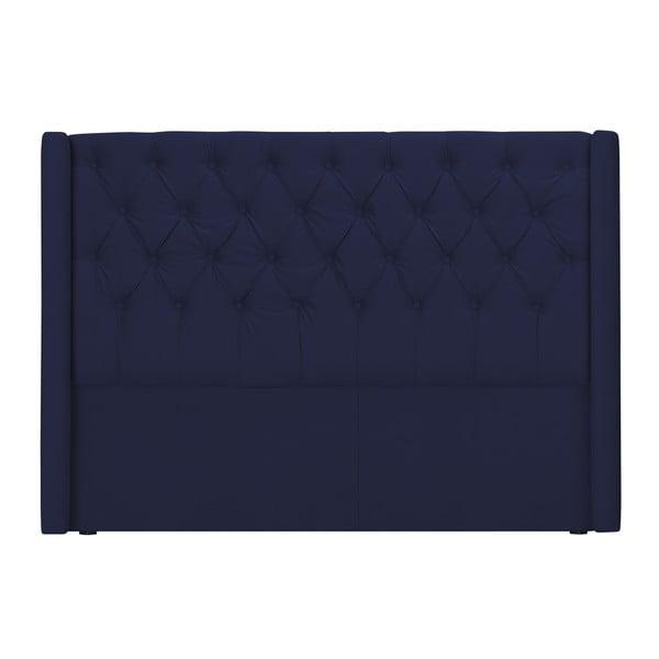Modré zagłówek łóżka Windsor & Co Sofas Queen, 176x120 cm