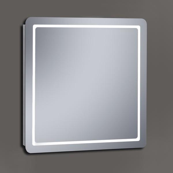 Lustro z oświetleniem LED Metro, 80x80 cm