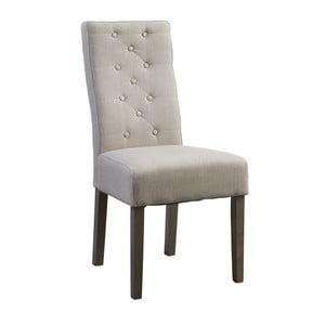 Beżowe krzesło z ciemnymi nogami Canett Tango