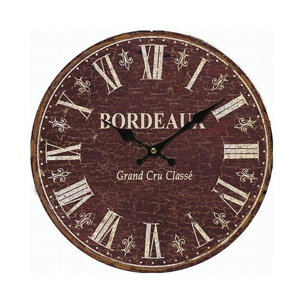 Zegar ścienny Antic Line Bordeaux, 34 cm