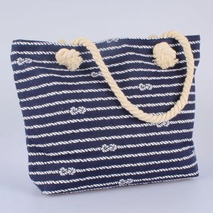 Niebieska torba materiałowa Dakls