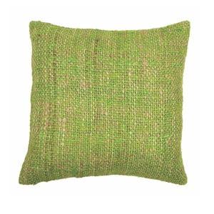 Zielona poduszka ZicZac Chambray, 45x45 cm