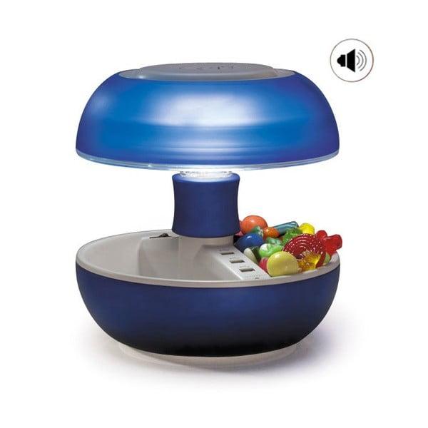 Lampa stołowa, ładowarka i głośnik w jednym Joyo Light, niebieska