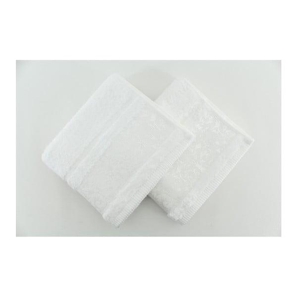 Zestaw 2 ręczników Pandora White, 50x90 cm