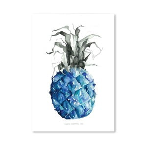 Plakat Pineapple Blue, 30x42 cm