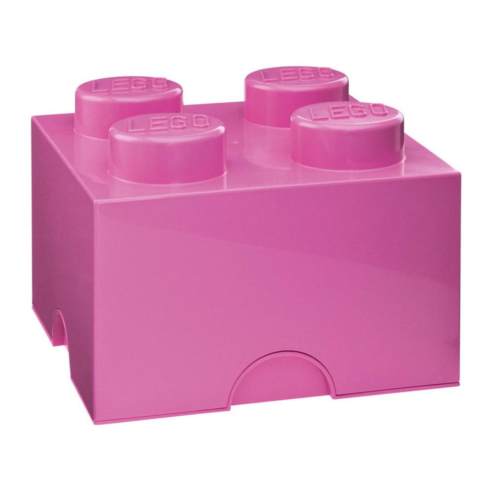 Różowy kwadratowy pojemnik LEGO®