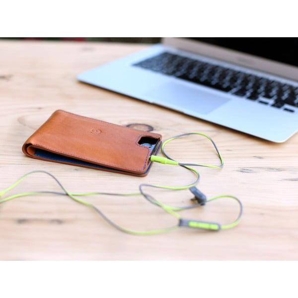 Danny P. skórzany portfel z kieszenią na iPhone 5 Cognac