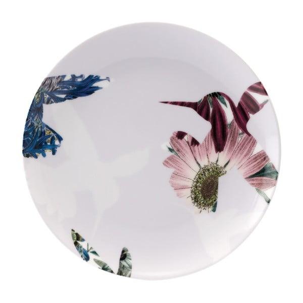 Zestaw 4 porcelanowych talerzy Flutter