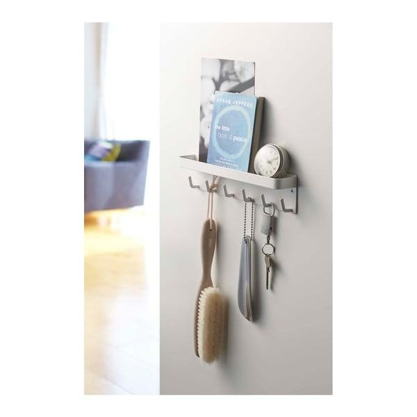 Biały wieszak na klucze z półeczką YAMAZAKI Smart