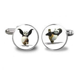 Zestaw 2 spinek do mankietów Butoni de Camasa Kung Fu Panda
