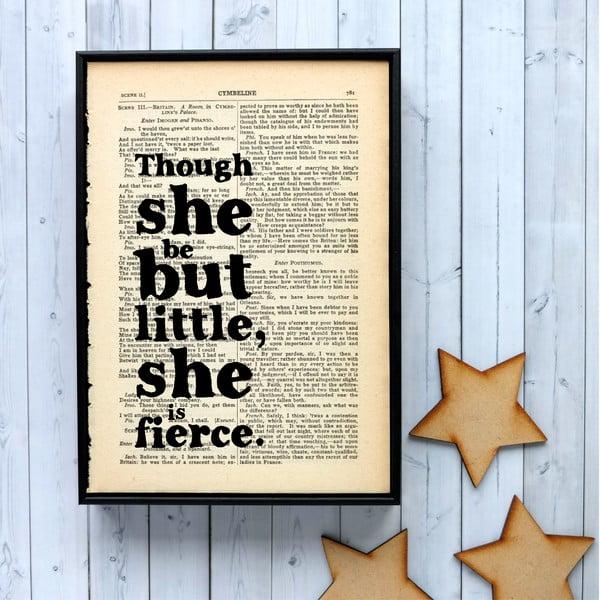 Plakat w drewnianej ramie Shakespeare Little and Fierce