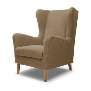 Beżowo=szary fotel Rodier Baregel