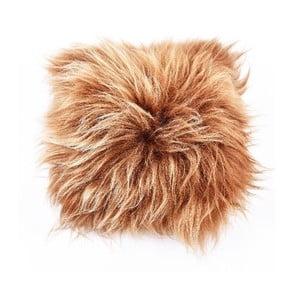 Dwustronna futrzana poduszka z długim włosem Rusty, 50x50 cm