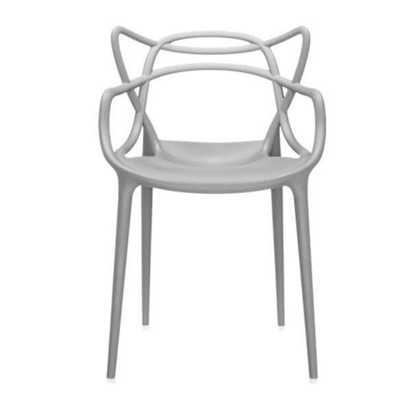 Szare krzesło Kartell Masters