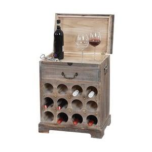 Stojak na wino (12 butelek) Shabby, brązowy