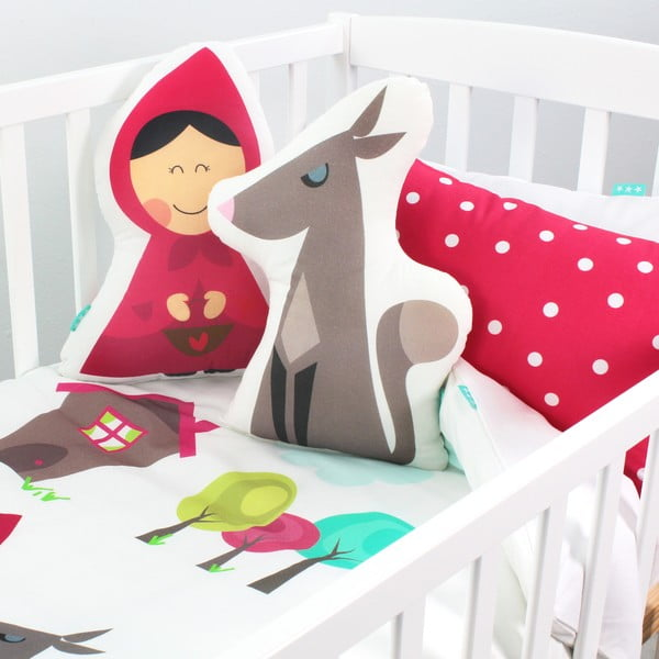 Poszewka na poduszkę i narzuta Mr. Fox Grandma, 120x180 cm