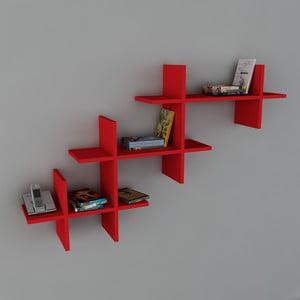 Półka Valentino Book Red, 22x140x84 cm
