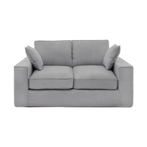 Jasnoszara sofa dwuosobowa Vivonita Jane