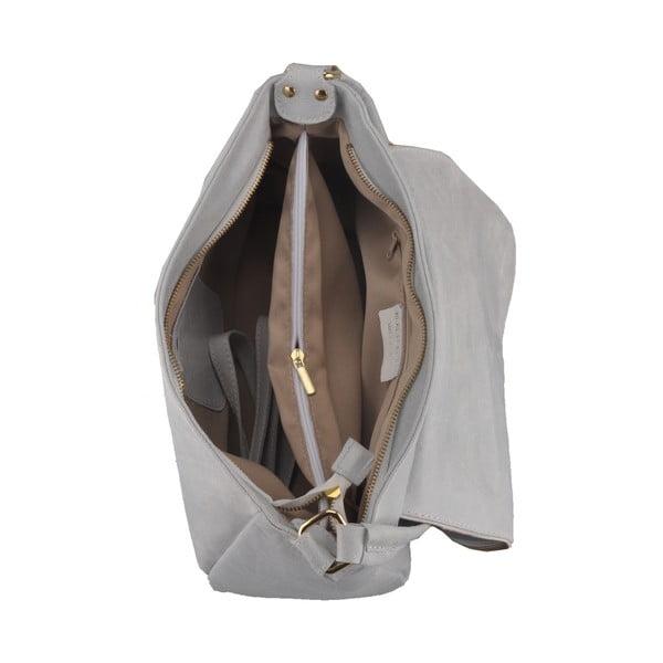 Skórzana torebka Diadema, szara