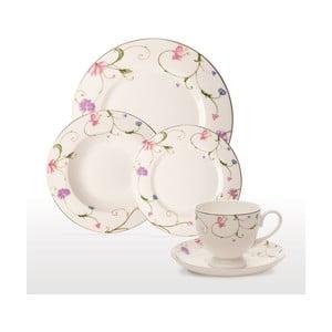 Zestaw porcelanowy Floral Decal, 20 szt.