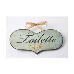 Vintage tablica Toilette