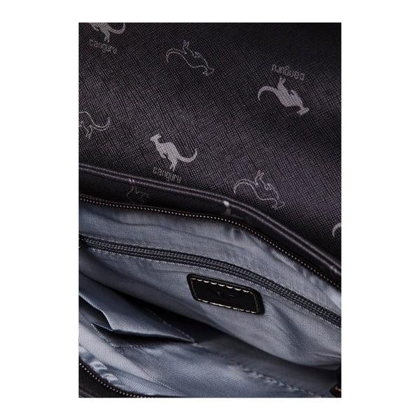 Skórzana torebka na długim pasku Canguru Louis, brązowa