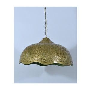 Abażur mosiężny Rajastan, złoto-zielony