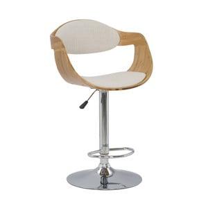 Krzesło barowe z bambusa Mauro Ferretti Bamboo Osaka Lino