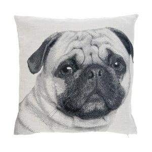 Poszewka na poduszkę z motywem psa Clayre & Eef Pug, 45x45 cm
