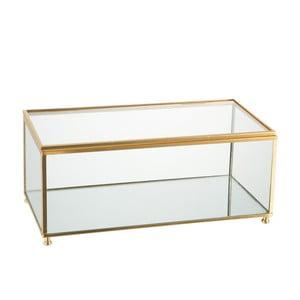 Szklana szkatułka J-Line Gold, 25x11 cm