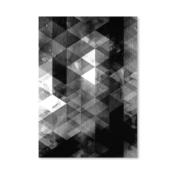 Plakat Geometric Black Grey
