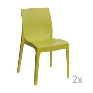 Zestaw 2 zielonych krzeseł Castagnetti Rome