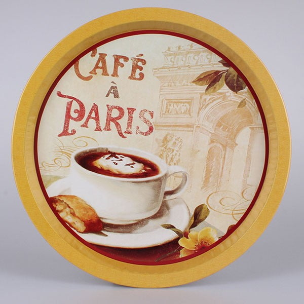 Blaszana taca Café a Paris