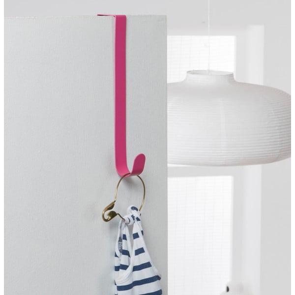 Różowy wieszak na drzwi Compactor Hoit Pink