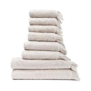 Zestaw 8 kremowych ręczników ze 100% bawełny Bonami