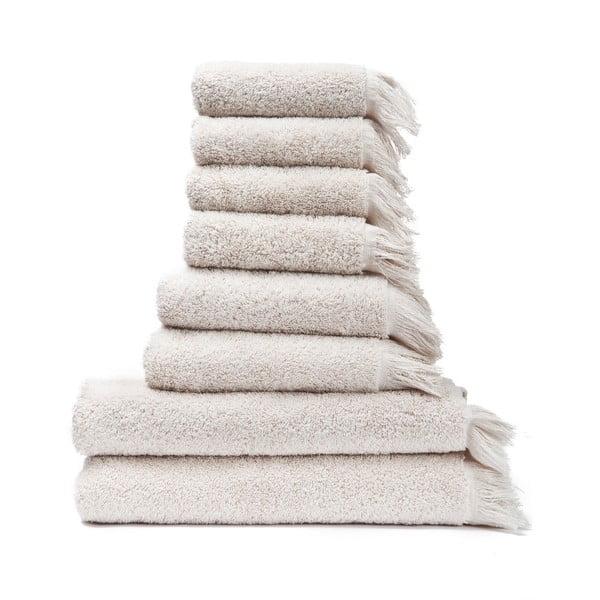Zestaw 6 kremowych ręczników i 2 ręczników kąpielowych ze 100% bawełny Bonami
