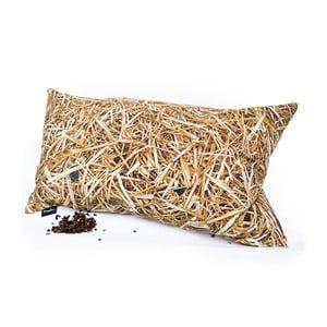 Poduszka z wypełnieniem z gryki Słoma, 50x30 cm