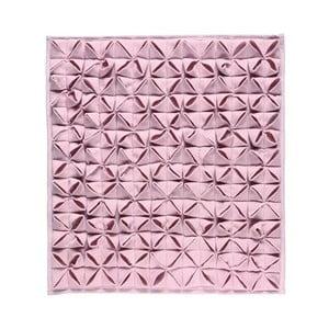 Dywanik łazienkowy Origami Light Pink, 60x60 cm