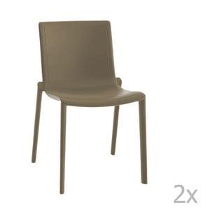 Zestaw 2 brązowych krzeseł ogrodowych Resol Kat